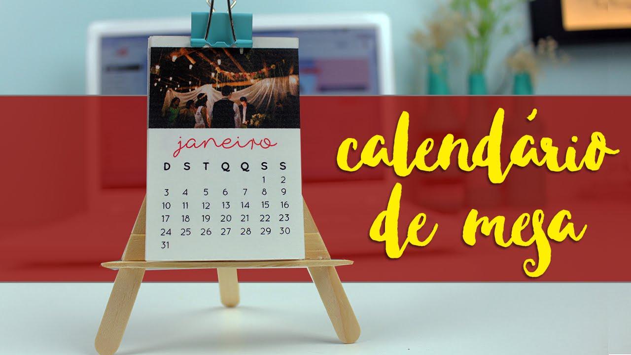 Mini calend rio de mesa com fotos youtube - Calendario de mesa ...