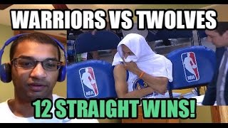 WARRIORS 12 GAME WIN STREAK! Golden State Warriors vs Minnesota Timberwolves HIGHLIGHTS (REACTION)