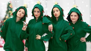 why are we dressed up like christmas trees   12 days of vlogmas day 6   brooklyn and bailey