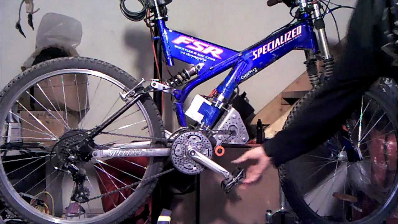 Mid drive electric bike dual chainring on freewheel for How to make an electric bike with a starter motor