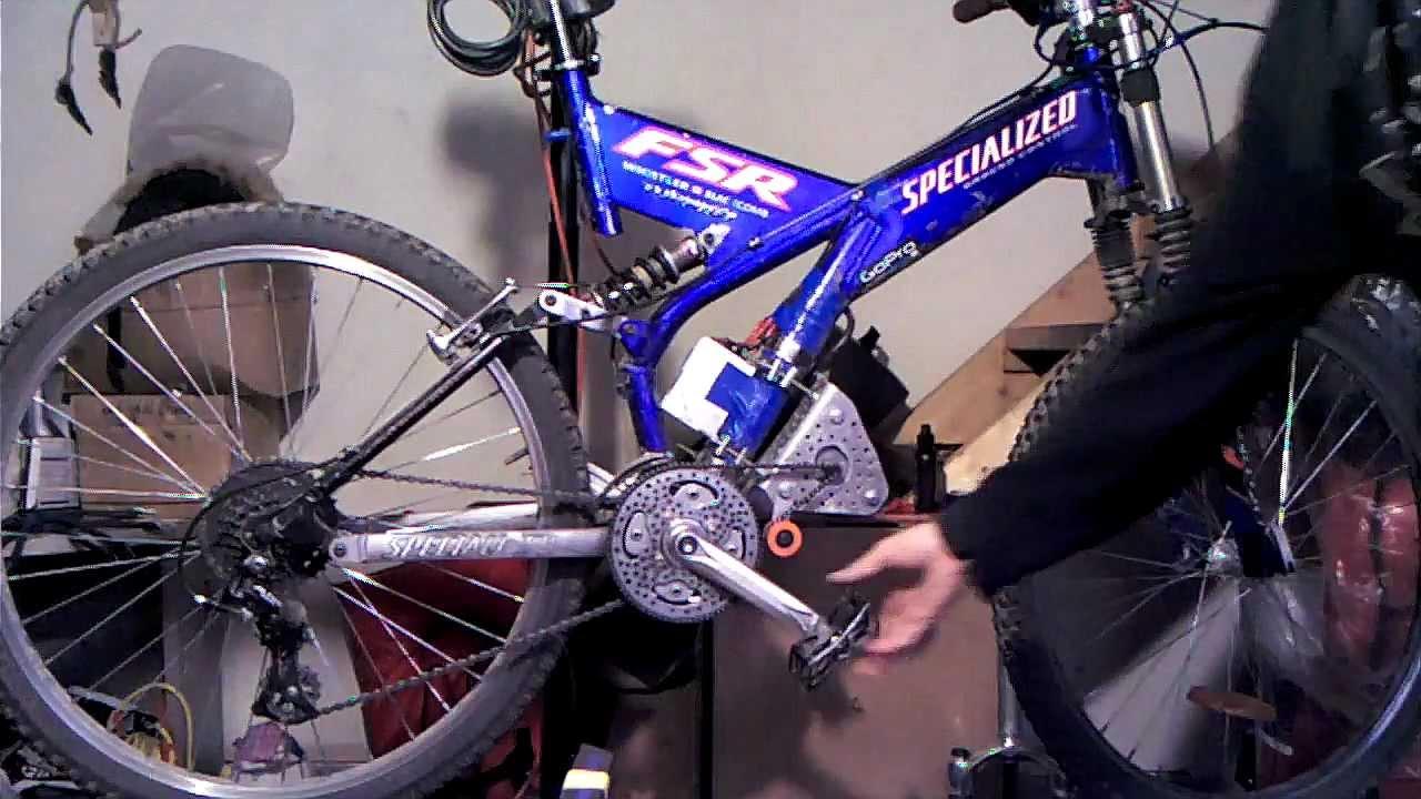 Mid drive electric bike dual chainring on freewheel for Mid motor electric bike
