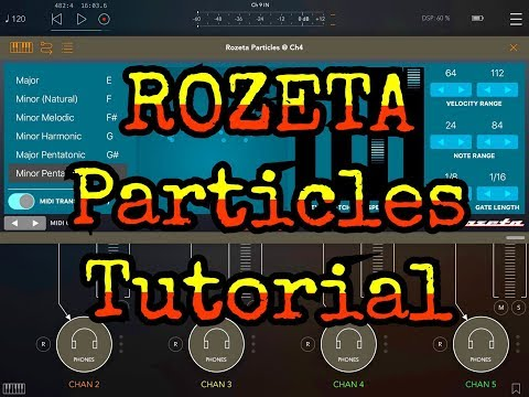 ROZETA by Bram Bos The PARTICLES Sequencer Tutorial & Demo for the iPad