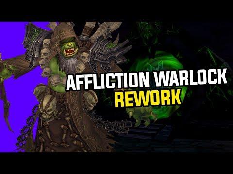 *NEW* Affliction Warlock Rework Gameplay in Battle For Azeroth - Complete Walkthrough