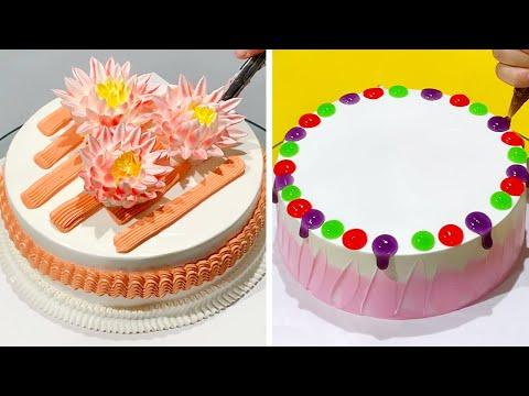 easy-cake-decorating-ideas-|-most-satisfying-chocolate-cake-decorating-tutorials-|-cake-recipes