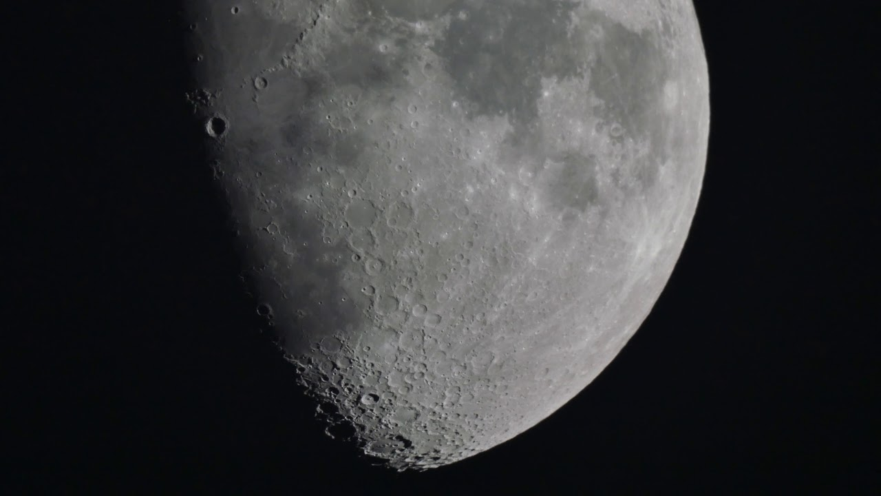 Backyard Astronomy - The Moon in 4K / UHD video
