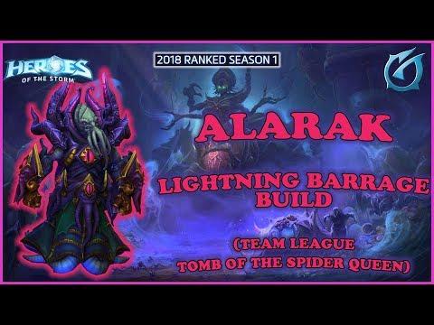 Grubby | Heroes of the Storm - Alarak - Lightning Barrage Build - TL 2018 S1 - Spider Queen