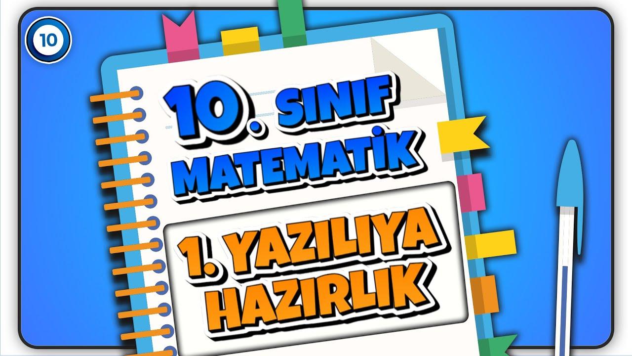 10. Sınıf Matematik | 1. Dönem 1. Yazılıya Hazırlık | REHBER MATEMATİK