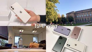 독일 공대생 브이로그   아이폰 11 화이트&라벤더 퍼플 언박싱   학교에서 튜터로 일하기   계속 공부하는 일상 VLOG