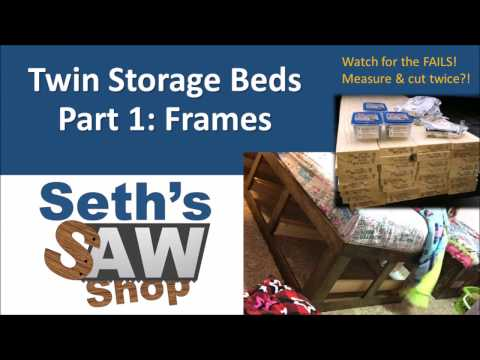 Twin Storage Beds, Part 1: Frames