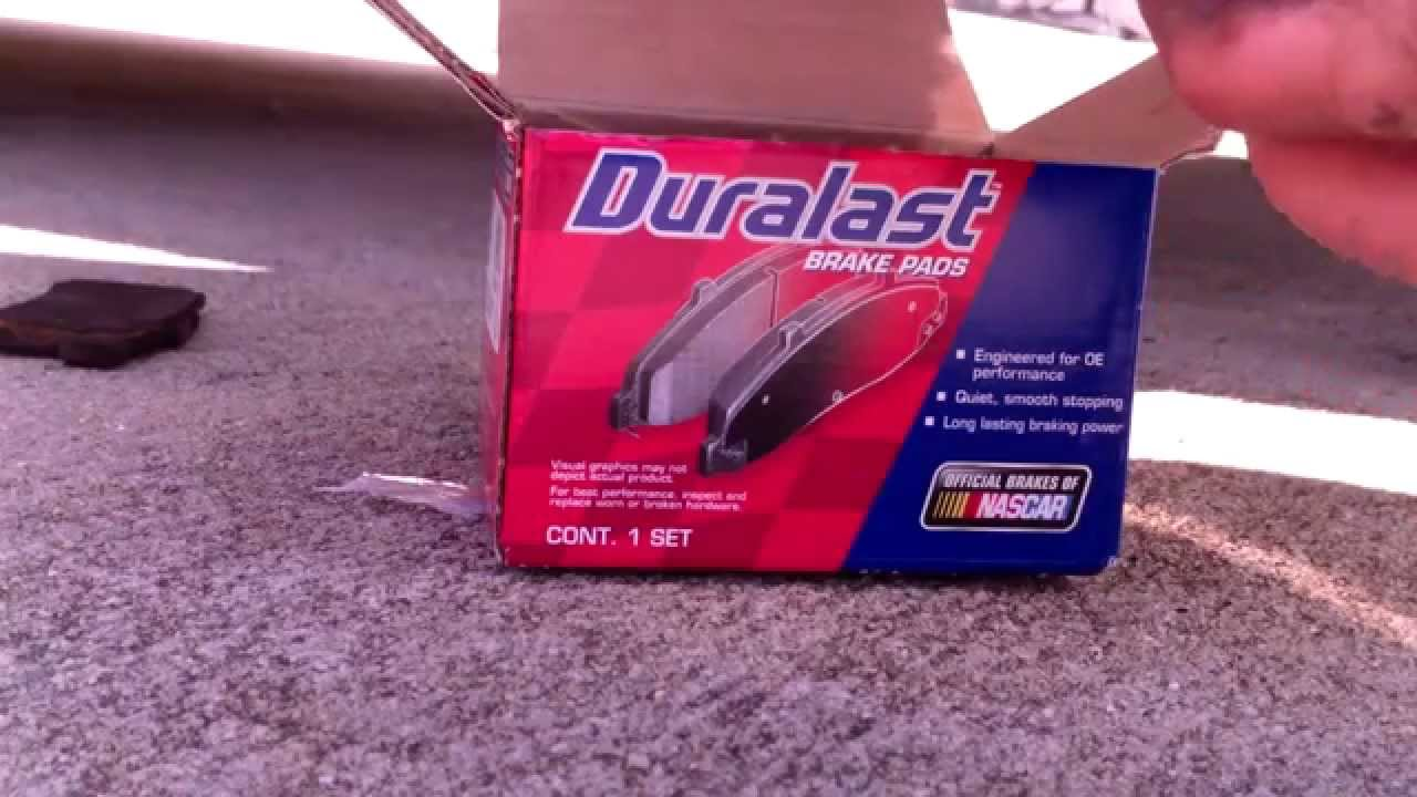 Duralast Brake Pads >> Honda Accord Brake Pad Replacement Duralast