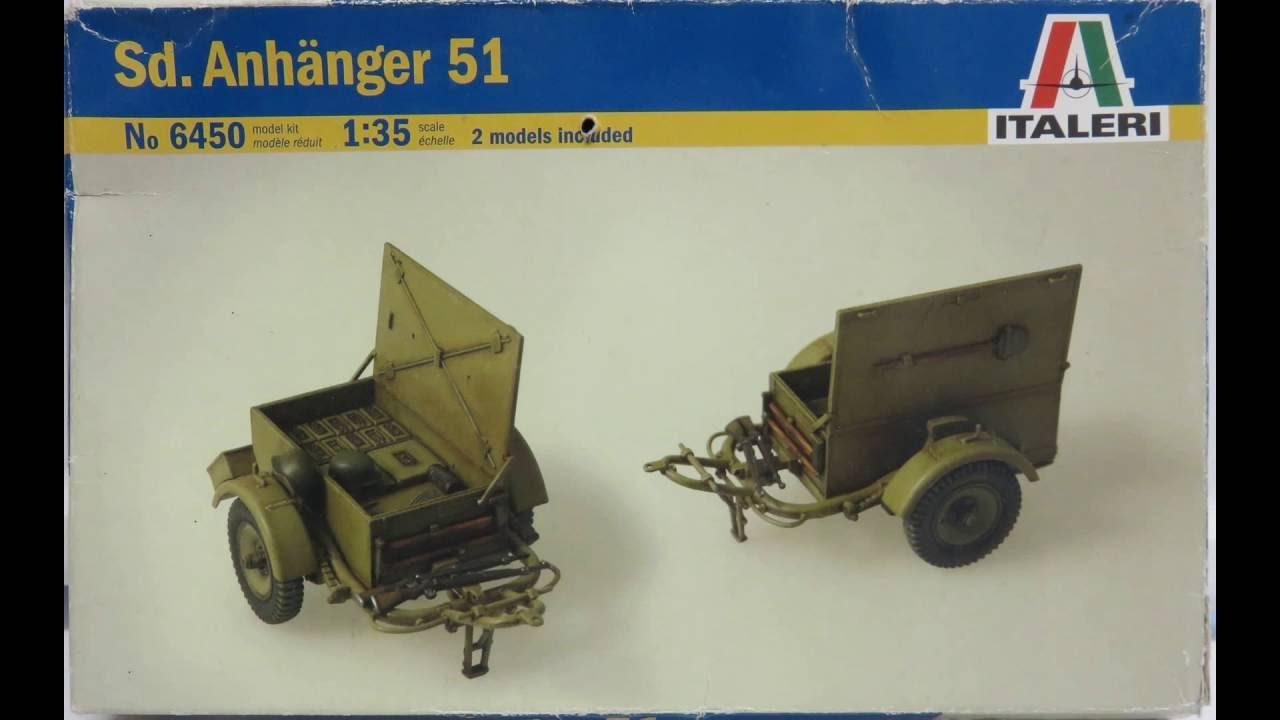 ITALERI 6450 SD Anhanger 2x Trailers 1:35 Military Model Kit