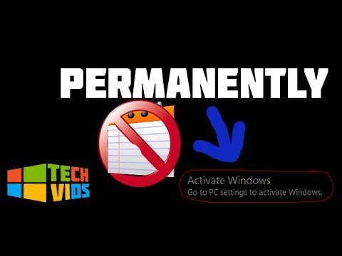 remove windows 10 watermark 2017