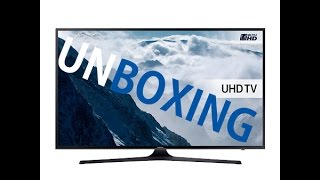 SAMSUNG 50inch 6000 series 4K TV Unboxing and Overview