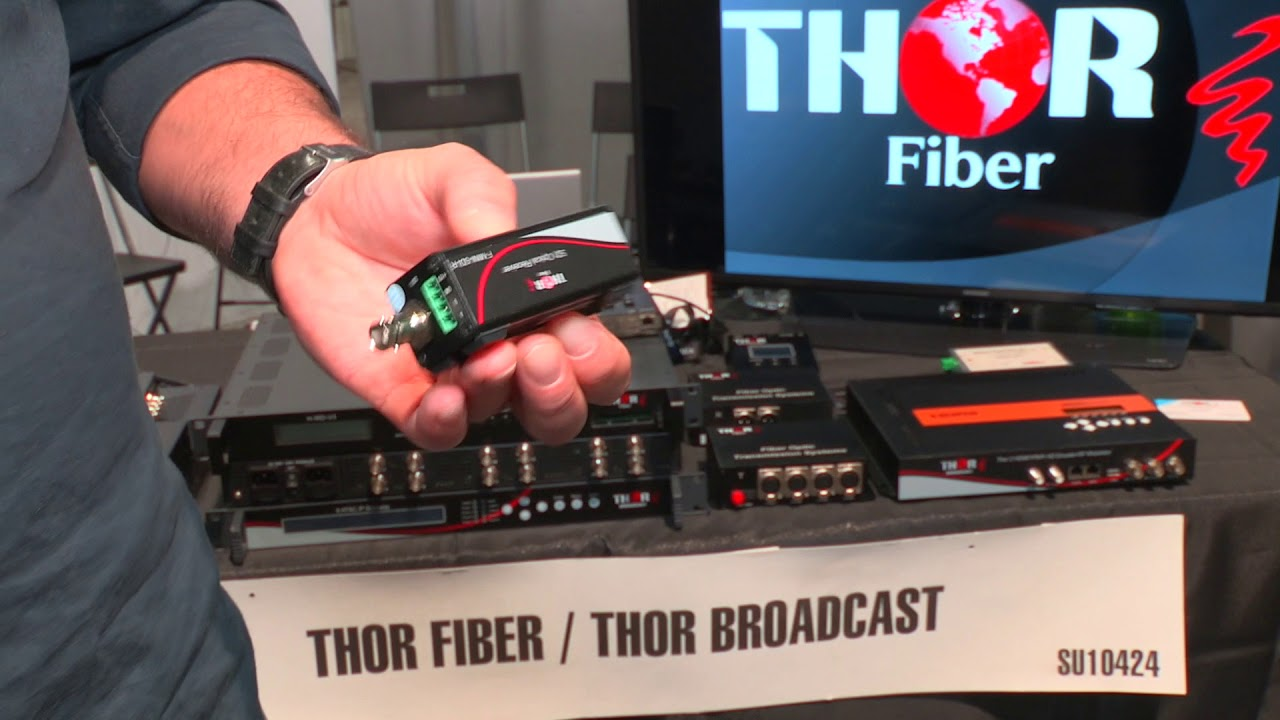 Thor Fiber F-MICROSDI Tx/Rx 1Ch HD-SDI Transmitter & Receiver Kit