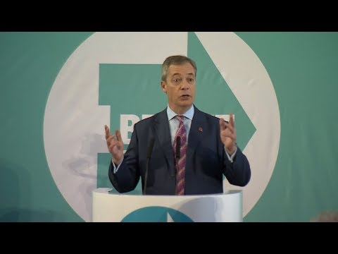 Campaign Live: Nigel Farage speaks at a Brexit Party rally in Sedgefield | ITV News