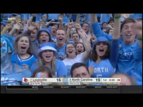 (NCAAM) #7 Louisville at #8 UNC in 40 Minutes - 2/22/17