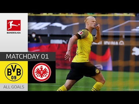 Haaland Brace + 2 Assists | Dortmund - Frankfurt 5-2 | All Goals | Matchday 1 – Bundesliga 2021/22