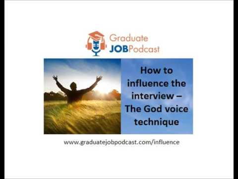 How to Influence the Interview - (The God voice technique) - Chris Delaney #28