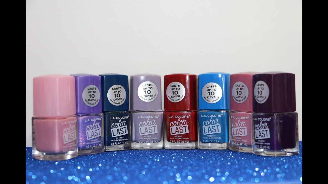 NEW POLISHES****L.A. COLOR NAIL POLISH HAUL/WALMART - YouTube