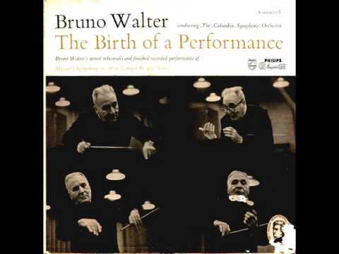 """Mozart-Symphony no. 36 (""""Linz"""") in C K.425 Rehearsal and performance by Bruno Walter"""