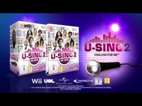 """""""U-SING 2 Wii"""", das neueste Karaoke-Spiel für NINTENDO Wii"""