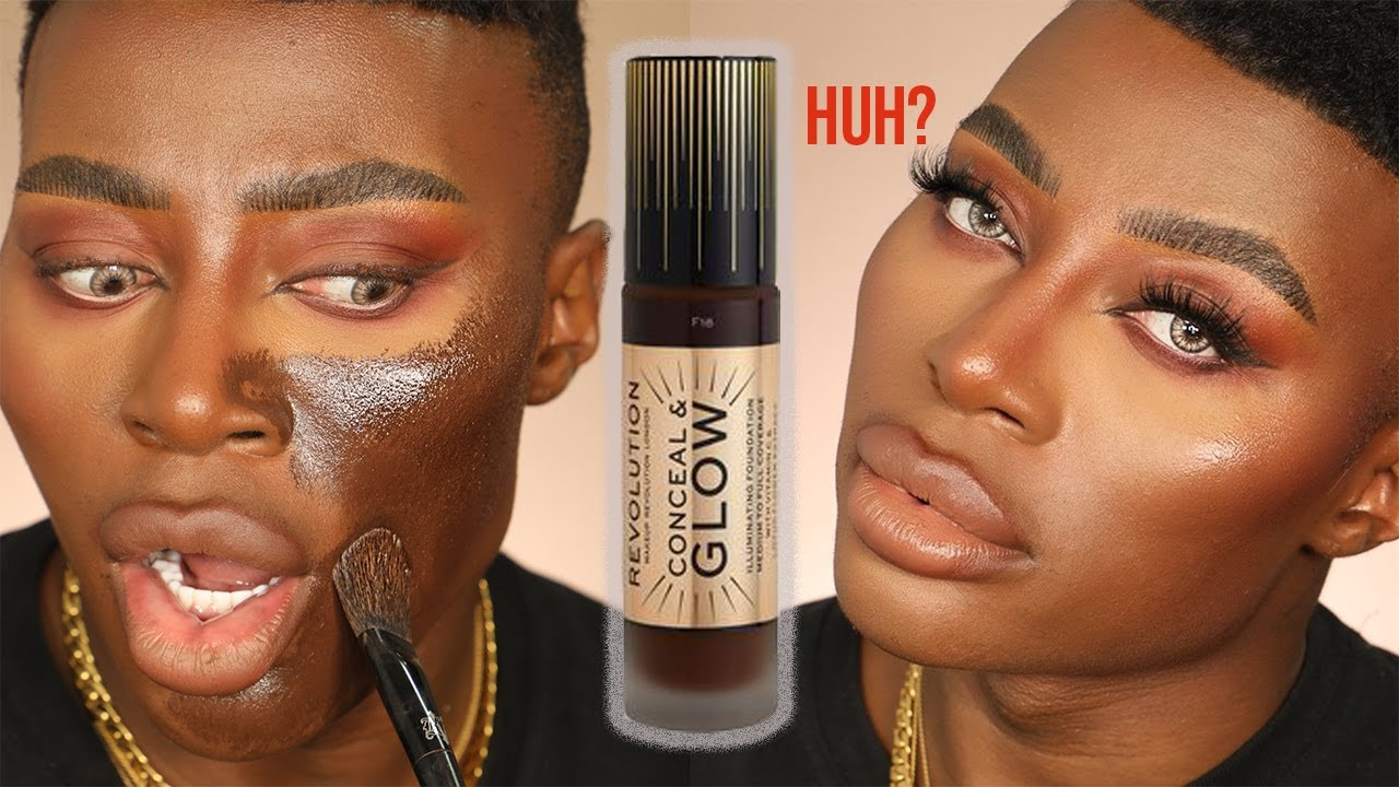 Makeup Revolution! Conceal and Glow foundation! SNATCHED? |ThePlasticBoy