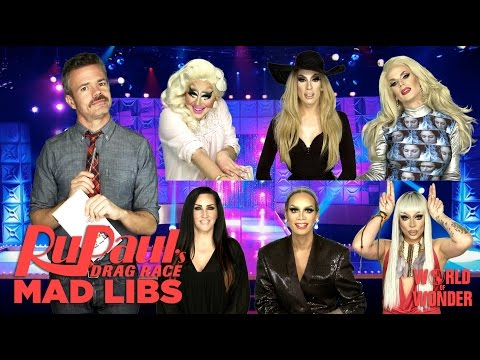RuPaul's Drag Race Mad Libs w/ Alaska, Raja, Raven, Trixie, Katya and Michelle Visage #DragLibs