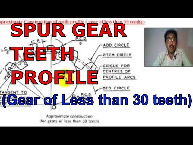 CONSTRUCTION OF SPUR GEAR TEETH PROFILE | for gears of less than 30 teeth | Approximate method