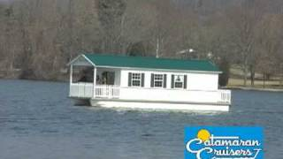 House Floats Across Lake