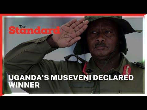 Yoweri Museveni declared winner of presidential poll as Bobi Wine alleged widespread fraud