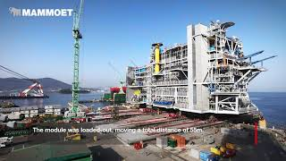 Weighing And Loadout Of Processing Platform's Topside - The Largest And Heaviest Module.