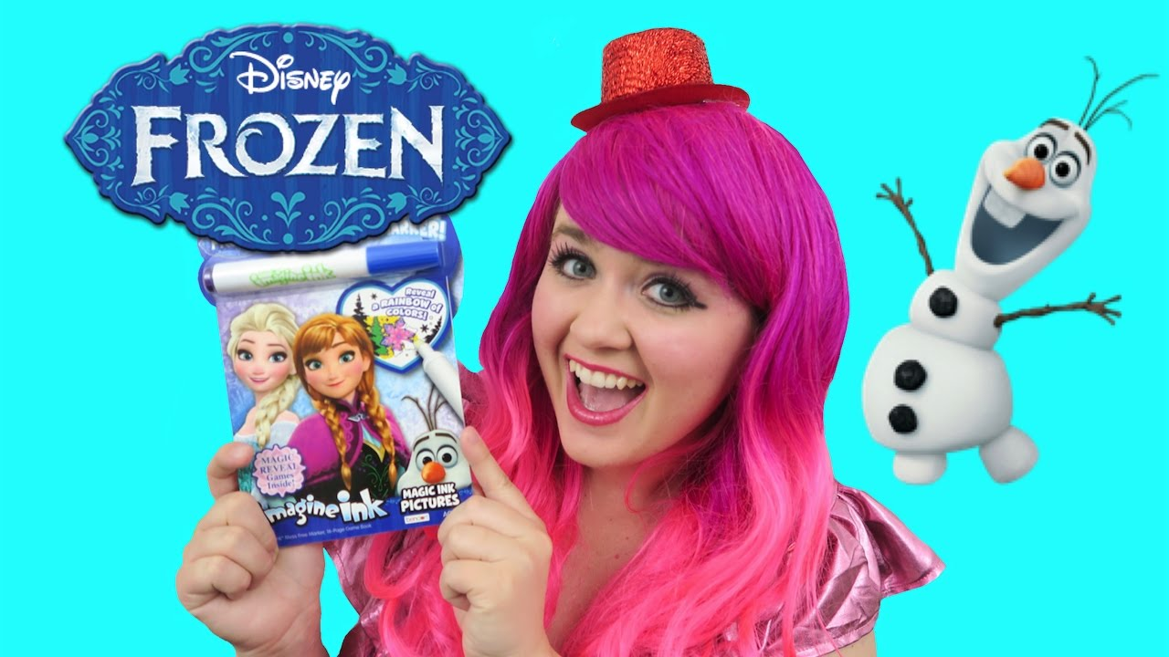 Disney Frozen Magic Ink Coloring Activity Book Imagine