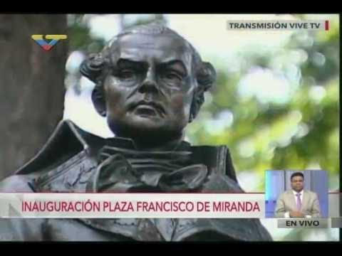 Reinauguración de la Plaza Francisco de Miranda y marcha al Panteón, 14 julio 2016