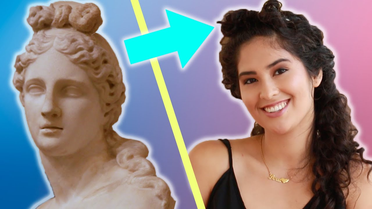 Women Try Ancient Hairstyles - YouTube