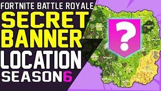 Fortnite SECRET BANNER LOCATION WEEK 2 Season 6 Hunting Party Challenge Battle Star