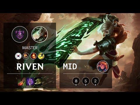 Riven Mid vs Zoe - KR Master Patch 10.8