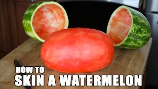 SKIN A WATERMELON party trick(Here's a cool watermelon trick to make you the #1 food bringer at your Labor Day picnic this weekend. FREE Audio Book- http://bit.ly/AudibleMarkRober MUSIC- ..., 2015-08-31T09:20:49.000Z)
