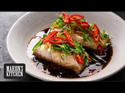 Steamed Soy & Ginger Fish - Marion's Kitchen