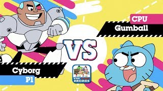 Gumball: Super Disc Duel 2 - Epic Disc Battle between Cyborg and Gumball (CN Games)