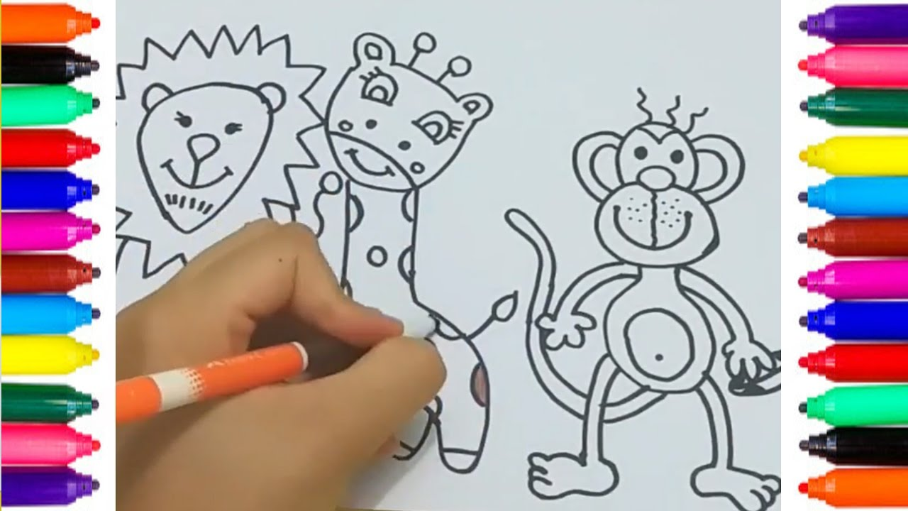 Cómo Dibujar Animales Para Colorear Para Niños Colorear Y Pintar