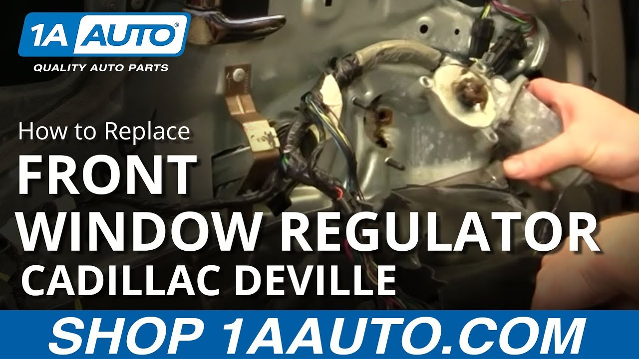 how to install replace power window motor front cadillac deville 94 99 1aauto com [ 1280 x 720 Pixel ]