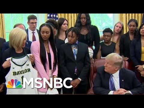 You Can Probably Guess What Kind Of Food Donald Trump Served NCAA Champs Today | All In | MSNBC