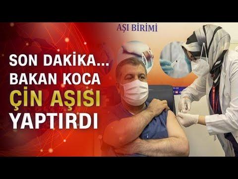 Sağlık Bakanı Fahrettin Koca canlı yayında aşı oldu!