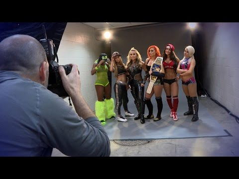 Behind the scenes of SmackDown LIVE's Women's team photo shoot