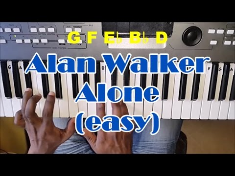 Alan Walker - Alone - Easy Piano Tutorial - How To Play