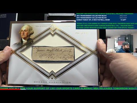2016 Topps Transcendent Collection Baseball Case Break 4 INSANE 11 GEORGE WASHINGTON!