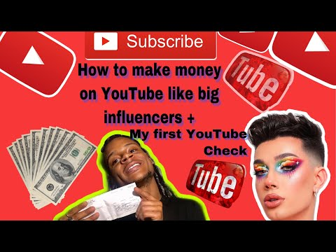 First Youtube Check + HOW TO MAKE MONEY ON YOUTUBE 2019