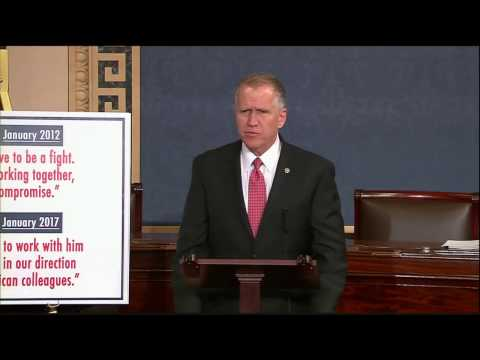 Senator Tillis Speaks About Need for Bipartisanship in the 115th Congress