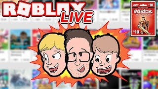 Roblox LIVE | New Game Every 10 minutes! | Enter Weekly Robux Giveaway | Schlamaddy | Family Friendl