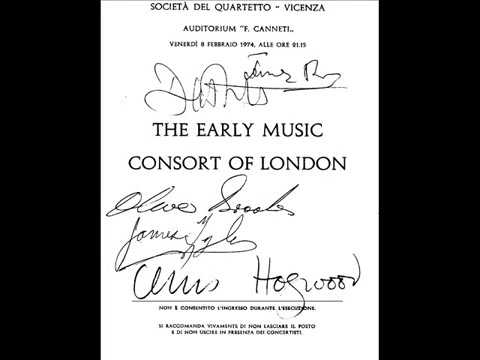 The Early Music Consort of London a Vicenza - 1974